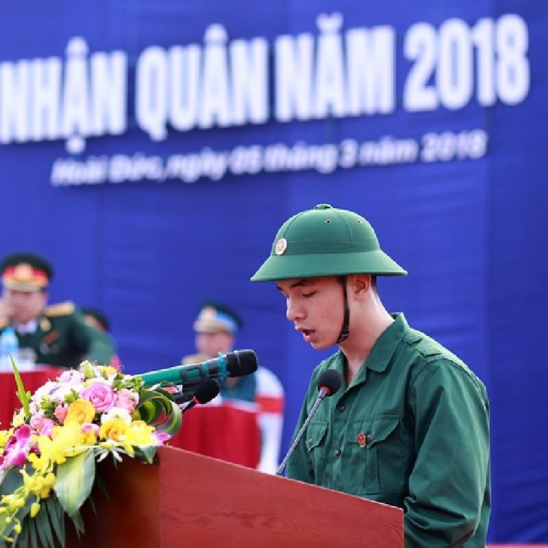Bài phát biểu giao quân năm 2018 (mới nhất)